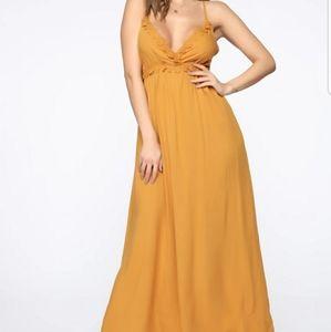New with tags fashion nova yellow dress